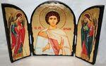 Виталий Св.Мч., с Архангелами, традиционный Афонский складень 35 Х 24 см.