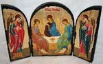 Троица, с Архангелами, традиционный Афонский складень 35 Х 24 см.