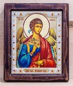 Ангел Хранитель, Икона Византикос, полуоклад, 22Х26