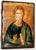 Андрей Первозванный, икона под старину, сургуч (13 Х 17)