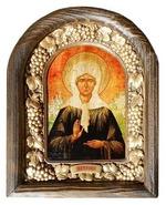 Матрона Московская. Икона Иерусалимская арочная