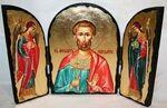 Богдан (Феодот) Св.Мч., с Архангелами, традиционный Афонский складень 35 Х 24 см.