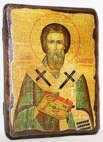 Валентин, Епископ Интерамский, икона под старину, сургуч (13 Х 17)