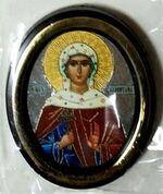 Валентина. Икона настольная малая, зол. кант, овал. (50 Х 65)