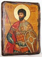 Виктор, Св.Муч, икона под старину, сургуч (13 Х 17)