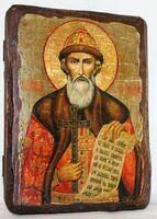 Владимир, Св.Князь, икона под старину, сургуч (13 Х 17)