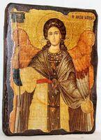 Архангел Гавриил (пояс), икона под старину, сургуч (13 Х 17)