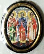 Гурий,Самон,Авив. Икона настольная малая, зол. кант, овал. (50 Х 65)