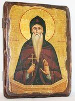 Даниил Столпник, икона под старину, сургуч (13 Х 17)