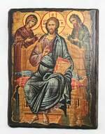 Деисус, икона под старину, сургуч (13 Х 17)