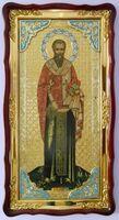 Евгений, Св.муч. (рост), в фигурном киоте, с багетом. Большая Храмовая икона (61 х 112)
