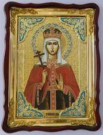 Ефросиния, Св. Вмч., в фигурном киоте, с багетом. Храмовая икона (60 Х 80)