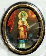 Захарий. Икона настольная малая, зол. кант, овал. (50 Х 65)