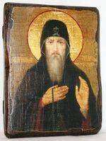 Захарий Печерский,Св.Прп., икона под старину, сургуч (17 Х 23)