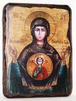 Знамение Б.М., икона под старину, сургуч (13 Х 17)