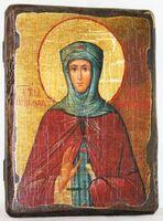 Зоя Вифлеемская, Св.ПрПд., икона под старину, сургуч (13 Х 17)