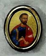 Иаков. Икона настольная малая, зол. кант, овал. (50 Х 65)