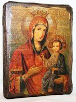 Иверская Б.М., икона под старину, сургуч (13 Х 17)