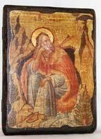 Илья Пророк, икона под старину, сургуч (13 Х 17)
