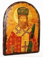 Иннокентий, Святитель, икона под старину, сургуч, АРКА (17 Х 24)