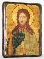 Иоанн Предтеча, икона под старину, сургуч (13 Х 17)