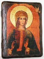 Ирина, Св.Муч, икона под старину, сургуч (13 Х 17)