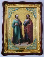 Косма и Демян, в фигурном киоте, с багетом. Храмовая икона (60 Х 80)