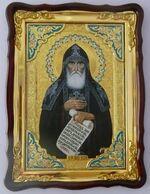 Кукша Одесский, в фигурном киоте, с багетом. Храмовая икона (60 Х 80)