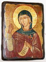 Маргарита, Св.Мч, икона под старину, сургуч (13 Х 17)