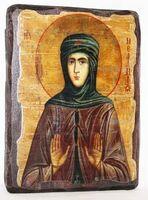 Мелания Римляныня, Преподобная, икона под старину, сургуч (13 Х 17)