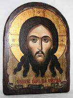 Спас Нерукотворный, икона под старину, сургуч, АРКА (17 Х 24)