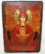 Неупиваемая чаша Б.М., икона под старину, сургуч (17 Х 23)