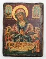 Положение во гроб, икона под старину, сургуч (13 Х 17)