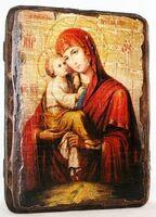 Почаевская Б.М., икона под старину, сургуч (13 Х 17)