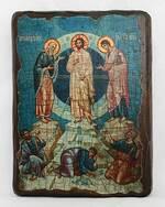 Преображение Господне, икона под старину, сургуч (17 Х 23)