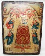 Прибавление ума Б.М., икона под старину, сургуч (13 Х 17)