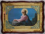 Прощание с Иерусалимом, в фигурном киоте, с багетом. Храмовая икона (60 Х 80)