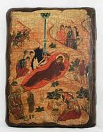 Рождество Христово, икона под старину, сургуч (13 Х 17)
