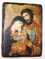 Святое семейство, икона под старину, сургуч (13 Х 17)