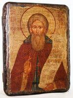 Сергий Радонежский (пояс), икона под старину, сургуч (13 Х 17)