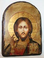 Спаситель, икона под старину, сургуч, АРКА (17 Х 24)