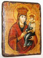 Споручница грешных Б.М., икона под старину, сургуч (17 Х 23)