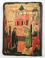 Сретение Господне, икона под старину, сургуч (17 Х 23)