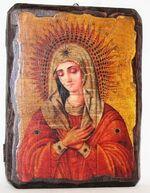 Умиление Б.М., икона под старину, сургуч (17 Х 23)