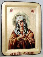 Умиление Б.М., икона Греческая, 13 Х 17