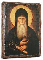 Агапит Печерский, икона под старину, сургуч (17 Х 23)