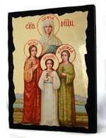 Вера, Надежда, Любовь, икона синайская, 13 Х 17