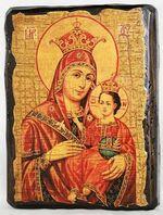 Вифлеемская Б.М., икона под старину, сургуч (17 Х 23)