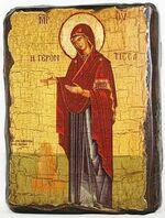 Геронтисса Б.М., икона под старину, сургуч (13 Х 17)