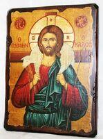 Добрый пастырь, икона под старину, сургуч (13 Х 17)